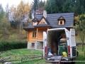 Dom drewniany ocieplany granulatem