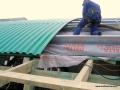Wykonywanie ocieplenia hali granulatem Ekofiber