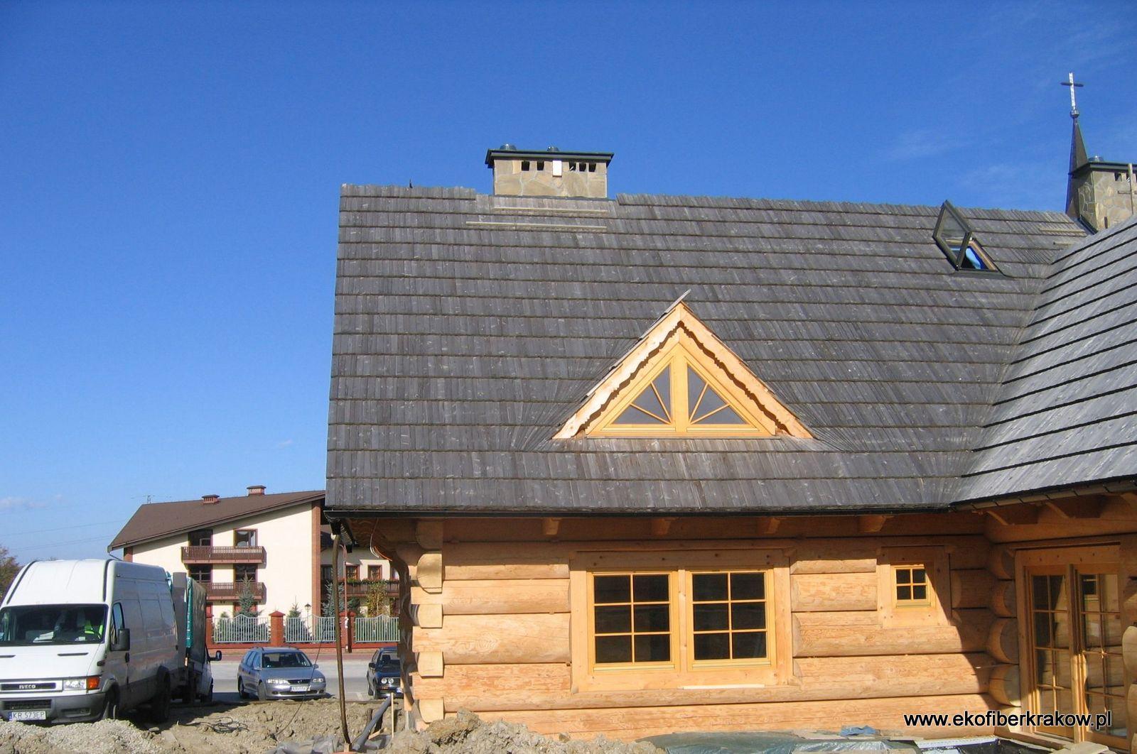Ocieplenie domu z bala granulatem Ekofiber