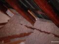 Gotowa izolacja skosów poddasza wykonana granulatem Ekofiber