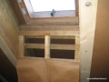 Ściany domu drewnianego przed ociepleniem granulatem Ekofiber