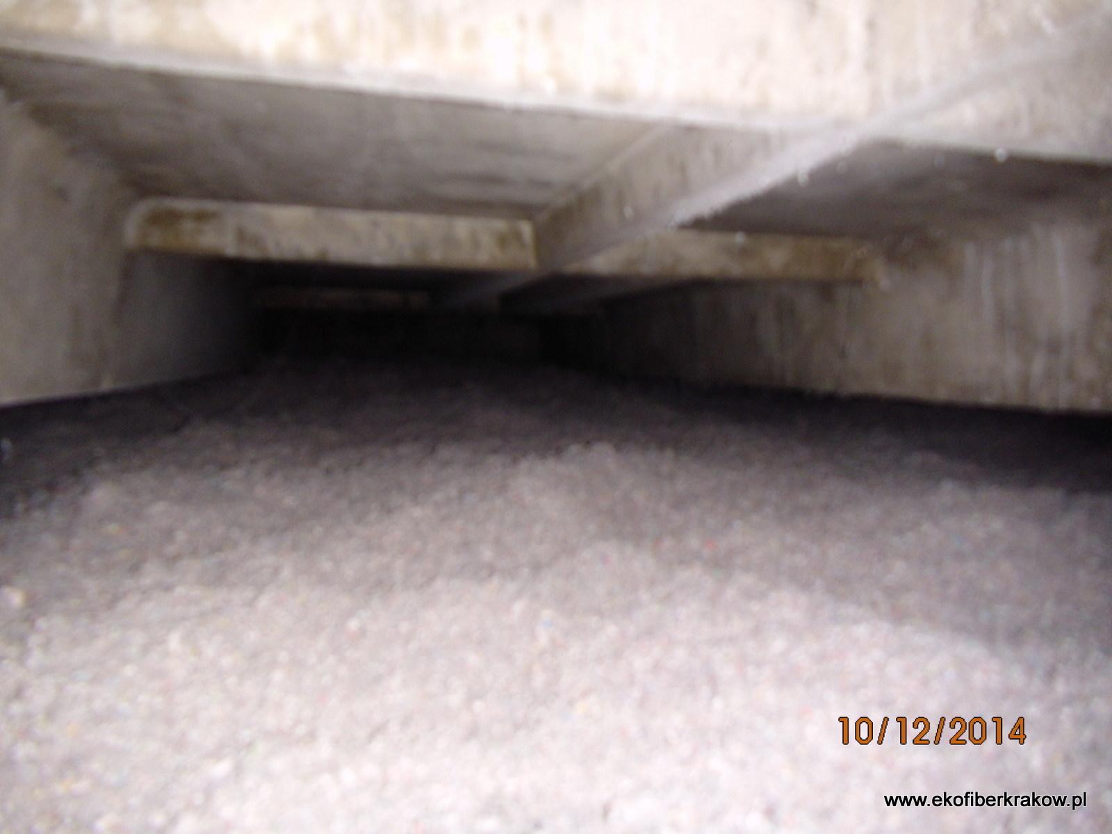 Docieplenie stropodachu granulatem celulozowym Ekofiber