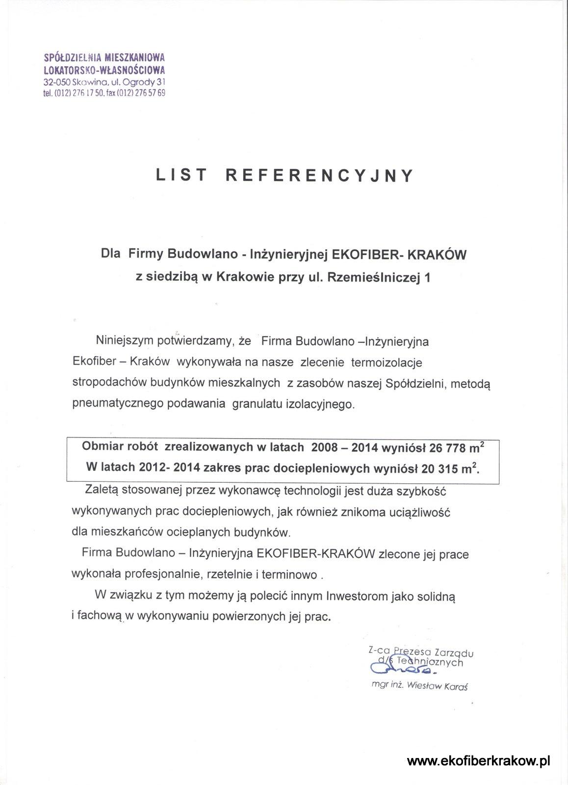 Referencje SM-LW w Skawinie