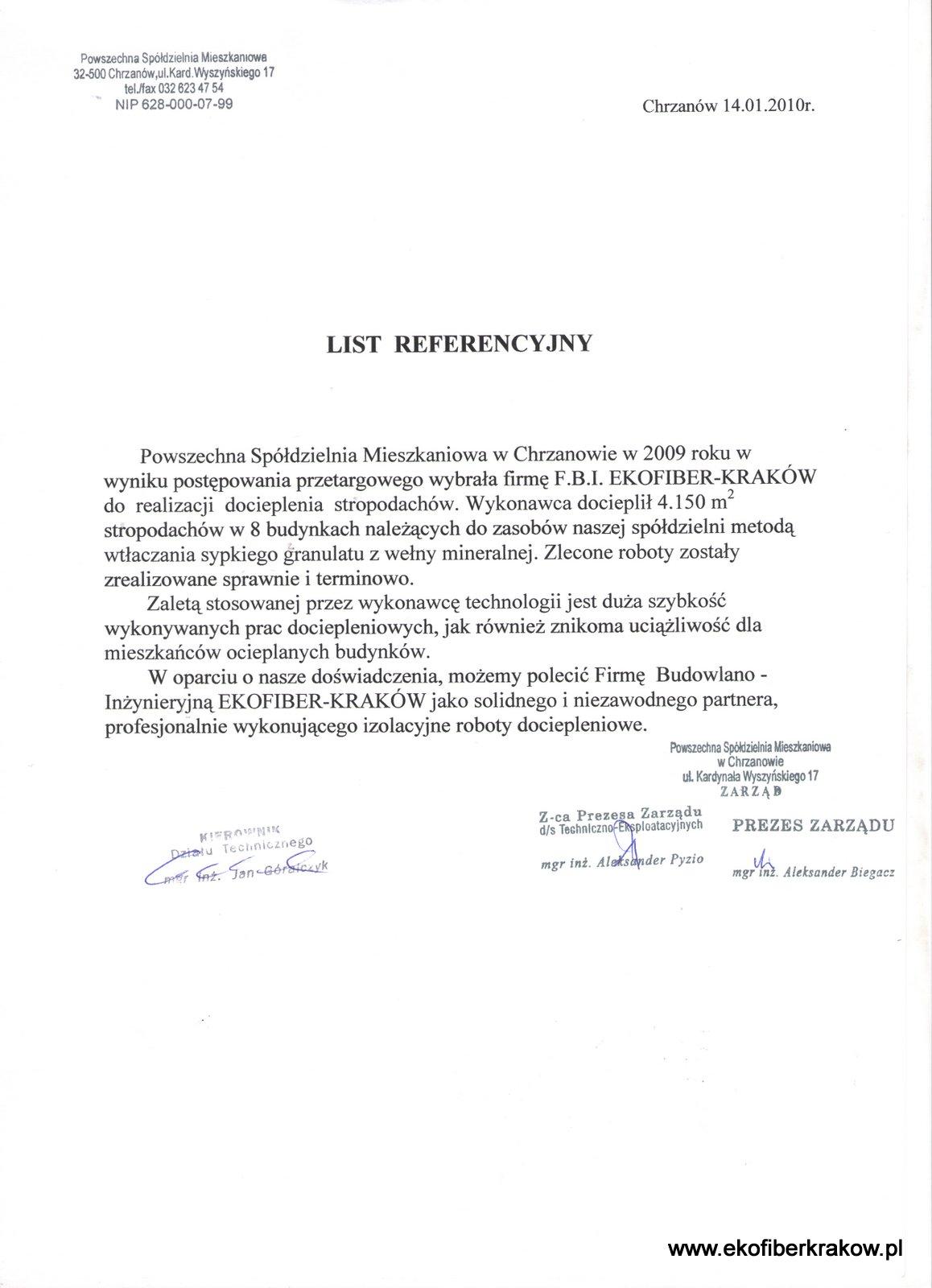 Referencje PSM w Chrzanowie