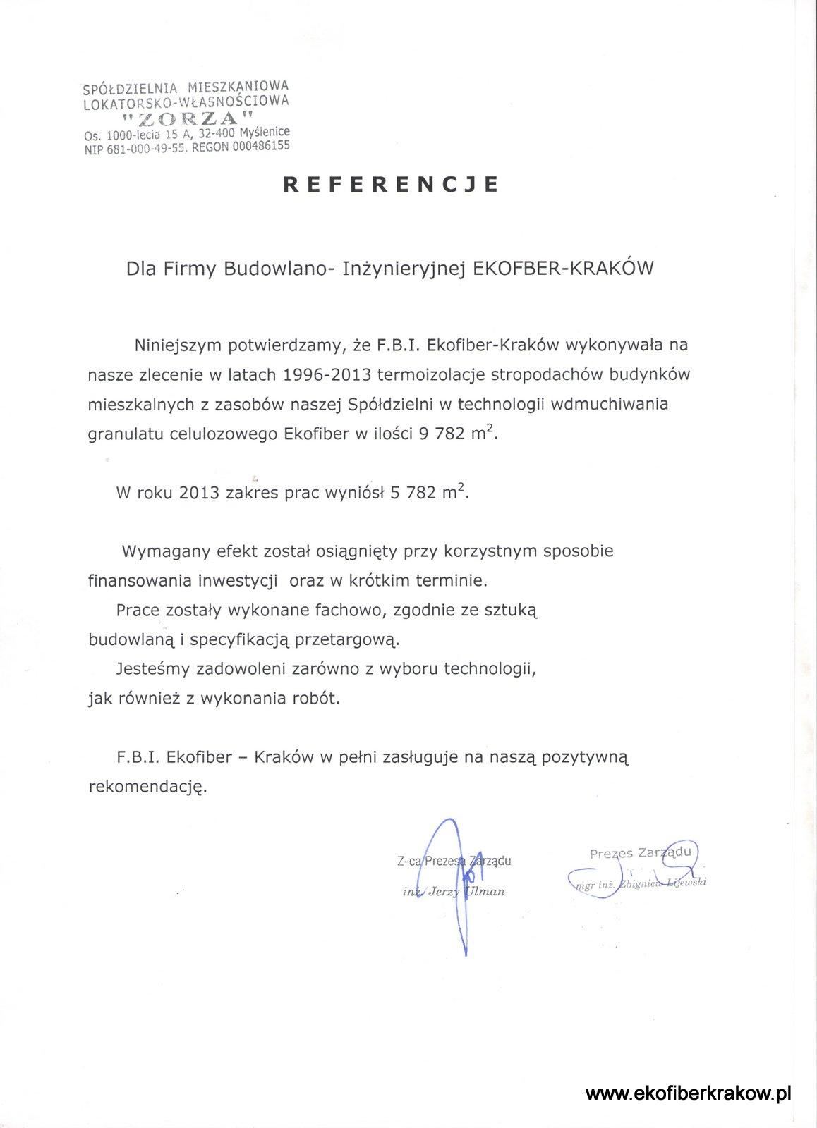 Referencje SM-LW Zorza w Myślenicach