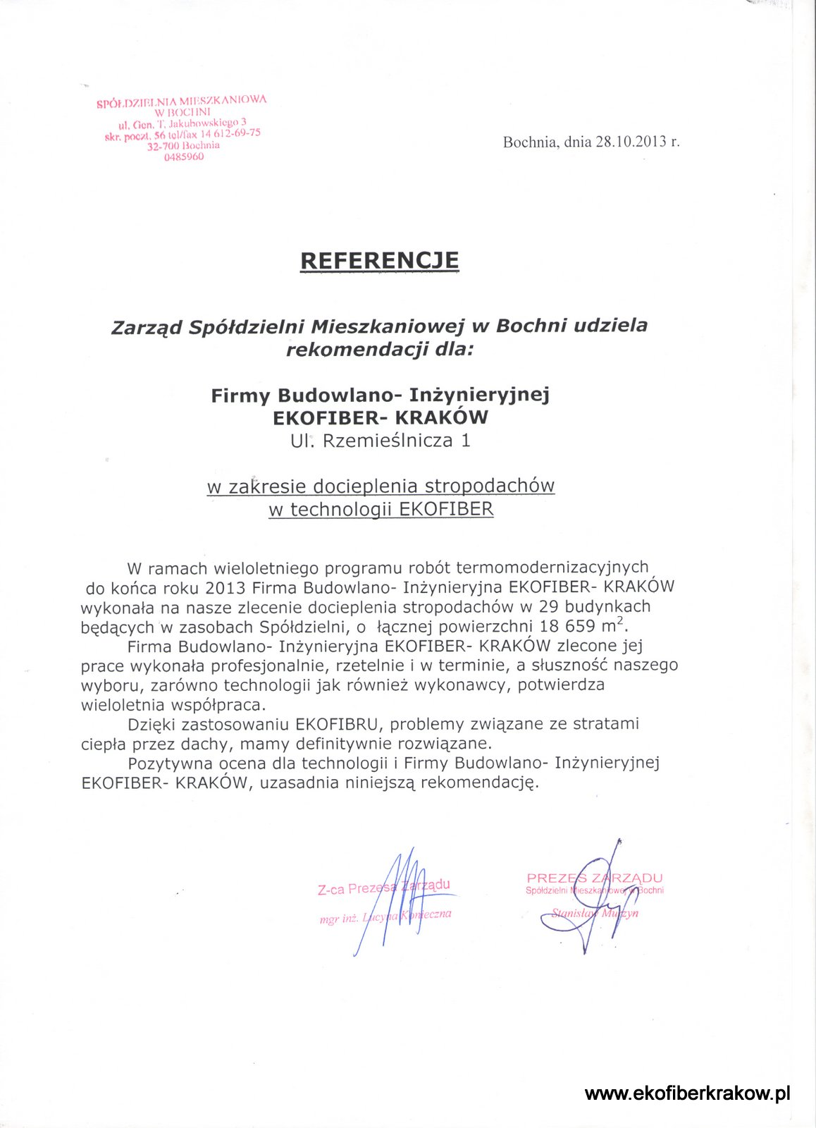 Referencje SM w Bochni