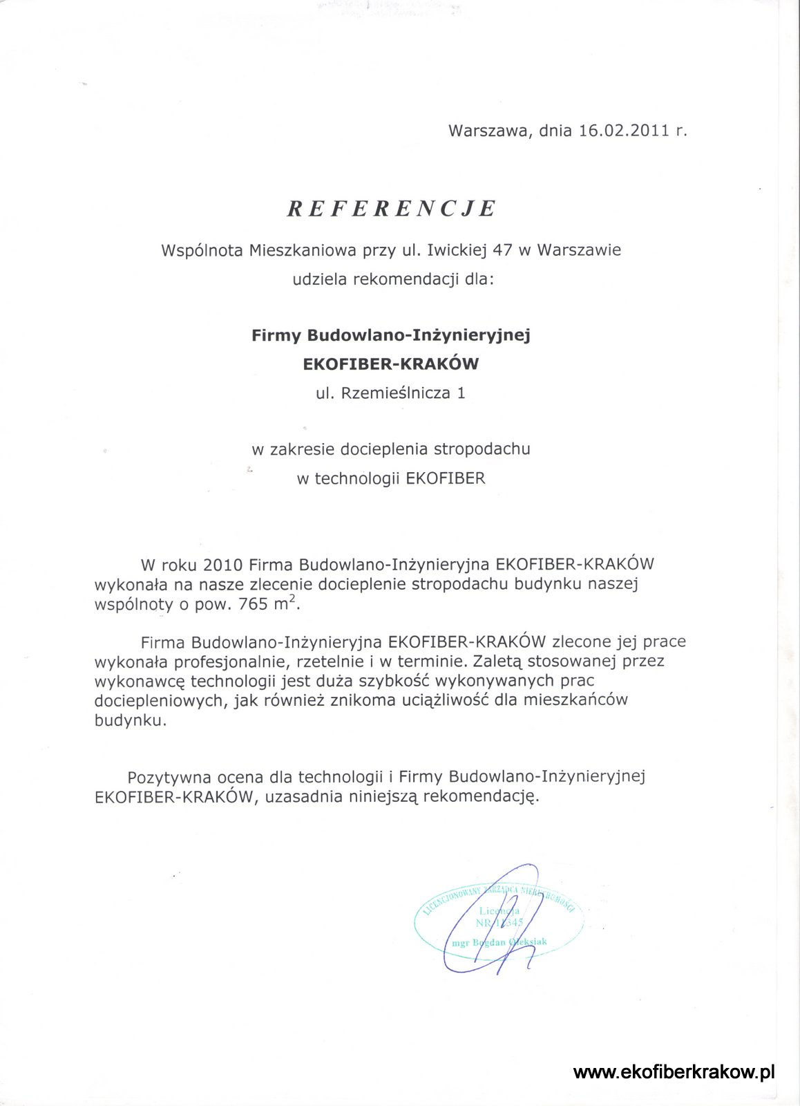 Referencje WM w Warszawie