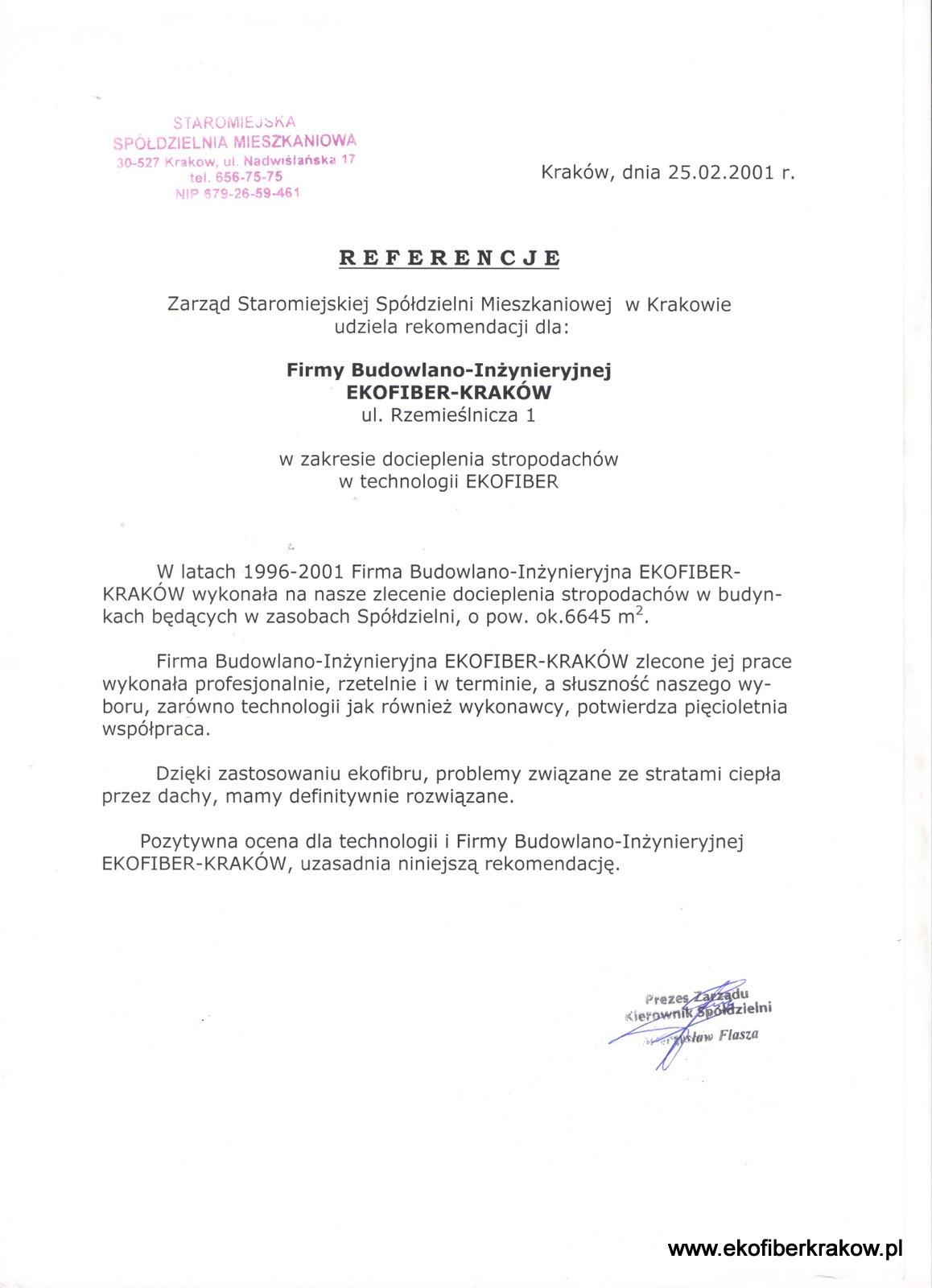 Referencje SM Staromiejska w Krakowie