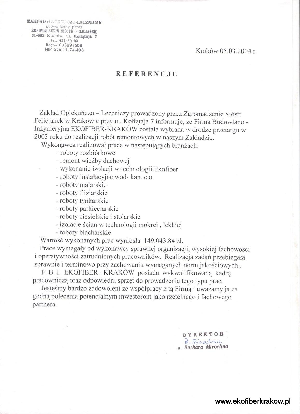 Referencje ZOL w Krakowie